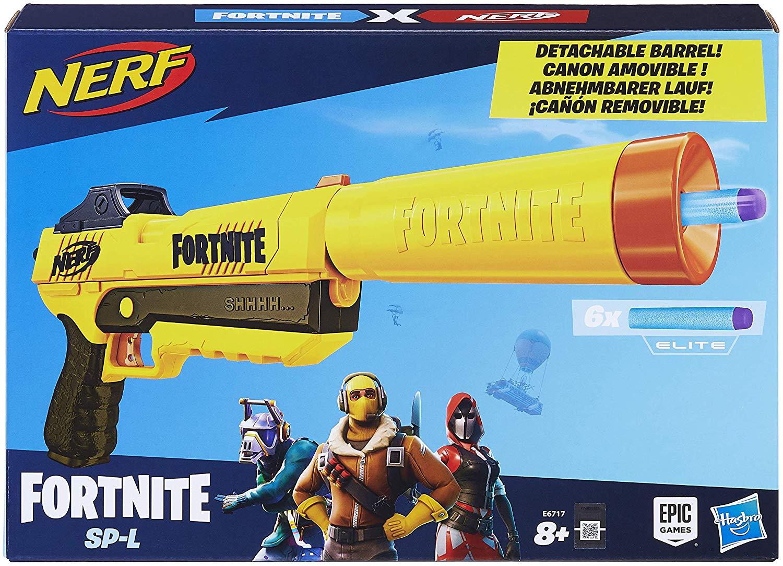 Nerf Fortnite SP-L Blaster with Detachable Barrel and 6 Official Fortnite Elite Darts - £14.78 Prime / +£4.49 non Prime @ Amazon