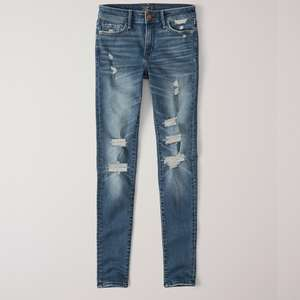 Abercrombie and Fitch Ripped Low Rise Super Skinny Jeans £22.94 delivered @ Abercrombie and Fitch