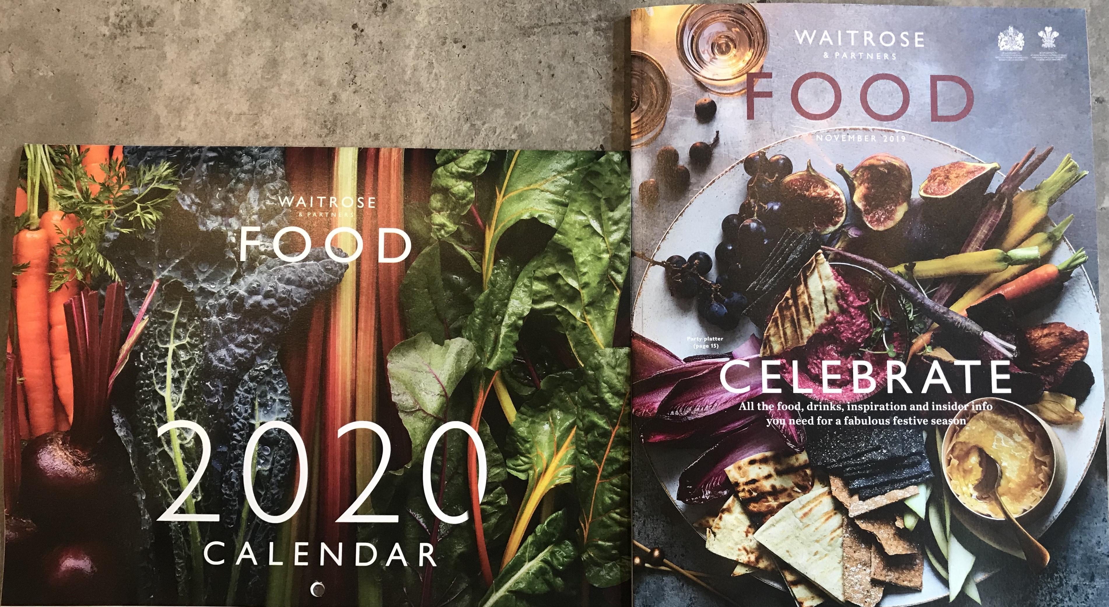 Free 2020 Calendar inside Magazine free for MyWaitrose card holders @ Waitrose