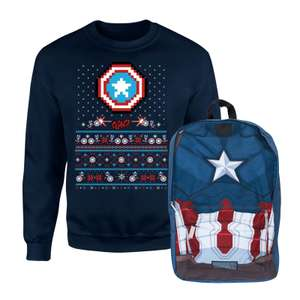 Captain America Christmas Sweatshirt & Backpack £16.99 Delivered @ IWOOT
