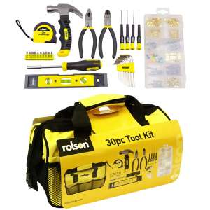 Rolson 30-Piece Tool Kit - £16.19 with code @ Robert Dyas. Free Click & Collect