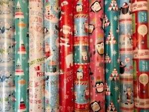 40m of Christmas Wrapping Paper in Random Designs for £8.99 delivered at jimbobsjoblots eBay