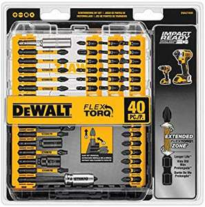 DEWALT DWA2T40IR Impact Ready FlexTorq Screw Driving Set, 40-Piece - £19.40 Delivered @ Amazon / Dispatched from and sold by Amazon US. P