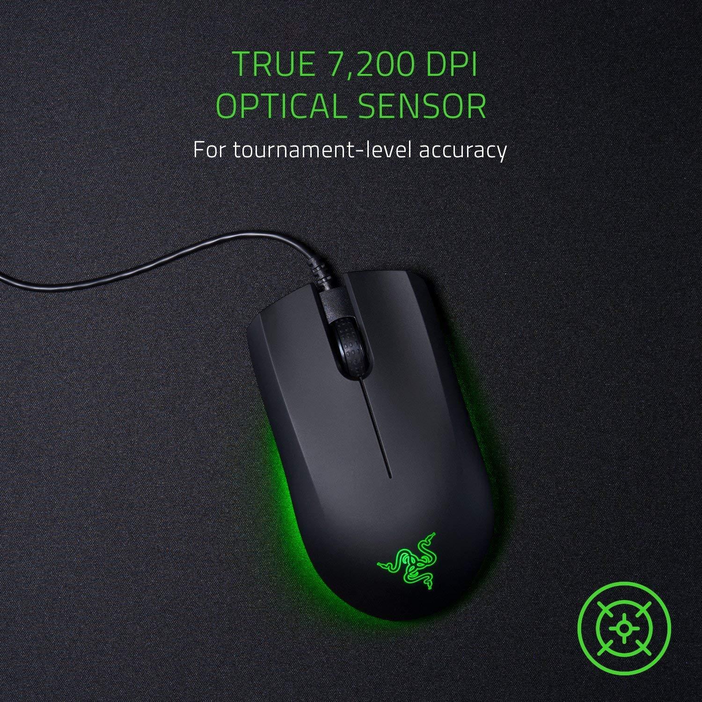 Razer Abyssus Essential: 7,200 Dpi Optical Sensor - 3 Hyperesponse Buttons - Powered By Razer Chroma - £34.99 @ Amazon