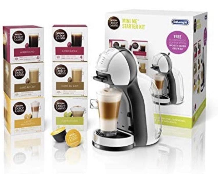 NESCAFÉ Dolce Gusto Mini Me Coffee Machine Starter Kit by De'Longhi £54.99 at Amazon