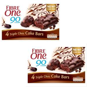 Fibre One Cake Bar Triple Chocolate 2 boxes 4 Bars X 25G for £1.50 at Fultons Food Cottingham