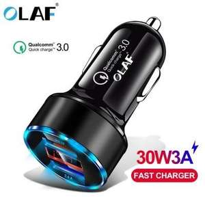 Qualcomm Quick Charge 3.0 Dual USB - Car CHARGER - 30W For Smartphones Etc. In Black £3.06 Delivered @ Gearbest