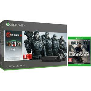 Xbox One X 1TB with Call of Duty: Modern Warfare (Disc) + either Gears 1-5 or Forza Horizon 4 + Lego DLC £341.10 with code @ AO Ebay
