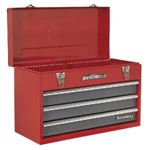 Sealey AP9243BB Tool Chest 3 Drawer Portable with Ball Bearing Slides - Red/Grey £22.55 at Euro Car Parts