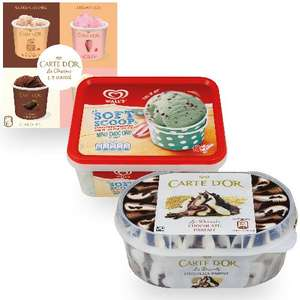 Carte D'Or and Walls Ice Creams only a £1 @ Heron Foods