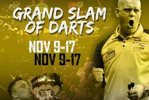 £10/£15 Darts Tickets to PDC Grand Slam of Darts in Wolverhampton, 10-17th November at Wowcher
