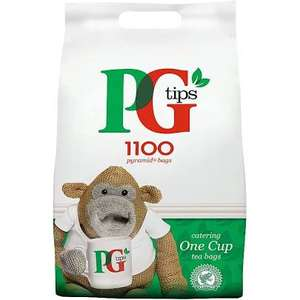 PG tips 1100 One Cup Catering Tea Bags - £13.50 @ Sainsbury's