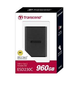 Transcend ESD230C 960GB USB 3.1 External SSD £99 @ Amazon