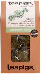 Teapigs Peppermint Herbal Tea Bags Made With Whole Leaves (50 Teabags) £8.69 (Prime) / £13.18 (non Prime) at Amazon