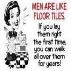 Novelty Mug - Men are Like Floor Tiles... £1.86 delivered at Base