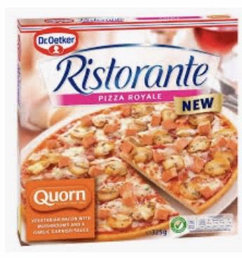 Dr Oetker ristorante quorn royale pizza 89p - HERON FOODS