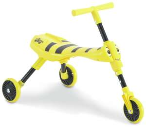Scuttlebug Bumblebee Ride On - Yellow and Black £16 at Argos with code- other colours available