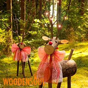 WoodenSoul Wooden Reindeer £19.99 @ Home Bargains West Midlands (Staffordshire)
