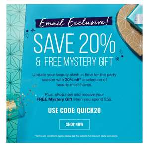 20% off selected beauty must-haves at Look Fantastic