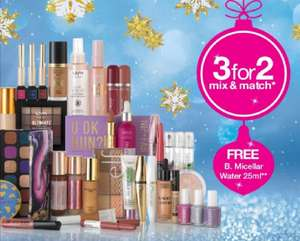 3 for 2 Mix and Match on cosmetics @ Superdrug