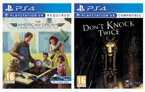 The American Dream or Don't Knock Twice (PSVR/PS4) for £8 delivered @ AO