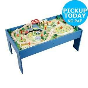 Chad Valley Wooden 90 Piece Train Set Table Free Click and Collect Only £30 Once Added To Your Basket @ Argos / eBay