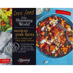 Iceland Slimming World Mexican Pork Fiesta 550g £1