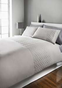 Quilted Geometric Pinsonic Panel Duvet Cover King Size £9.80 @ Matalan