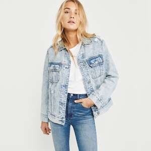 Abercrombie & Fitch Acid Wash Oversized Denim Jacket (was £98) Now £25.99 / £30.99 delivered @ Abercrombie & Fitch (more in thread)