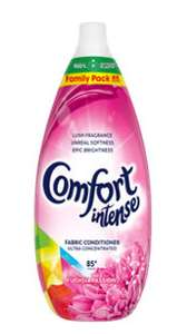 Comfort Intense Fabric Conditioner 85 Washes - Various Scents £4 @ ASDA