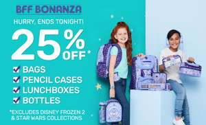 SMIGGLE 25% off bags, pencil cases, lunchboxes and bottles