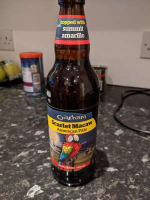 Oakham Scarlet Macaw American Pale Ale 99p at Home Bargains Gosport