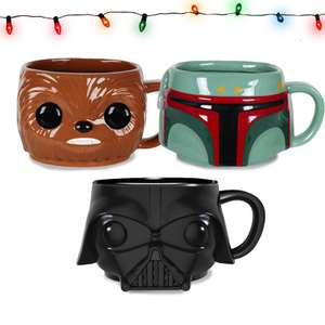 Star Wars Pop! 3 Mug Bundle £17.99 Delivered @ MyGeekBox