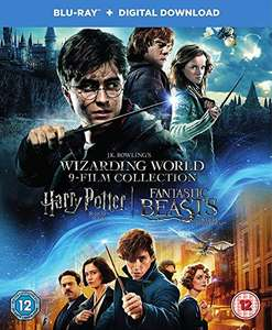 Wizarding World 9-Film Collection All Harry Potter Films + Fantastic Beasts & Where to Find Them Blu-Ray Boxset £35.99 @ Amazon UK