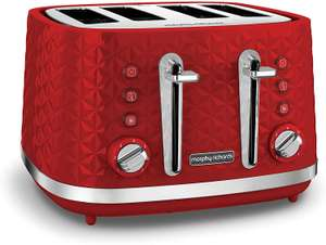 Morphy Richards Vector 4 Slice Toaster Red £23.31 Delivered @ Amazon