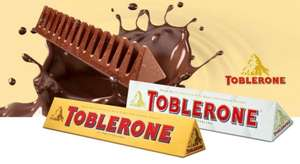 Toblerone Large 360g bars Milk Chocolate or White Chocolate are only £3 @ Asda!