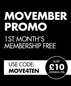 First Month @ The Gym Group for £10 with code