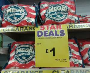 Mega Marshmallows 550g now £1 in Poundstretcher, in-store at Birkenhead