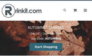 Autumn clearance at Rinkit.com + extra 10% off with the code AUTUMN10