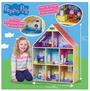 Peppa Pig Wooden Playhouse. Included furniture, figures and lights £48 @ Amazon
