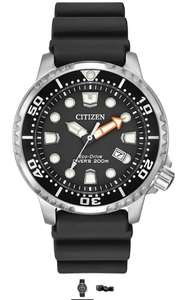 Citizen Promaster Diver Men's Solar Powered Watch with Black Dial Analogue Display and Black Rubber Strap Bn0150-28E £112.05 @ Amazon