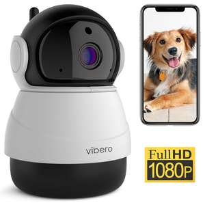 Vibero WiFi Camera (1080P) (Pet Camera, Baby Monitor with Night Vision and Motion Detection) £20.99 Sold by Delvfire & Fulfilled by Amazon.