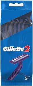 Gillette 2 Disposable Men's Razor, Pack of 5 92p at Amazon Pantry (£15 minimum spend + £3.99 delivery)