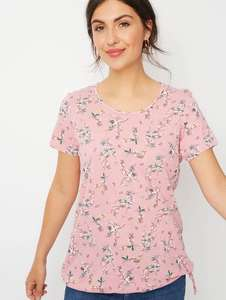 1/2 Price : Bird Print Pink Bubble Hem Top Sizes 8,16, 20, 22, Now £3 @ Asda ( Free Click & Collect )