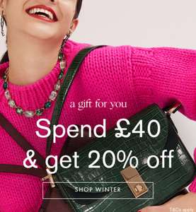 20% off at Accessorize when you spend £40, includes sale, free delivery and 7% Quidco for new customers