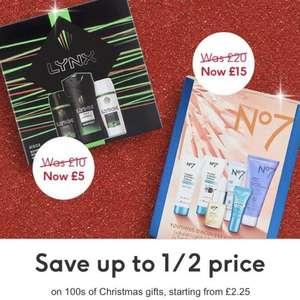 Half Price on selected brands at Boots starting from £2.25 - including Jack Wills, Lynx, FCUK, Mean Girls, Zoella,