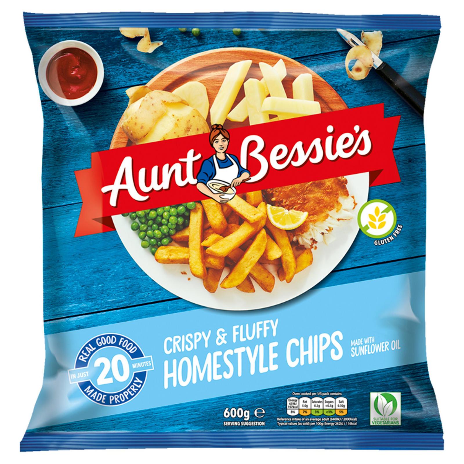 Aunt Bessie's Crispy & Fluffy Homestyle Chips 600g £0.79 @ Iceland