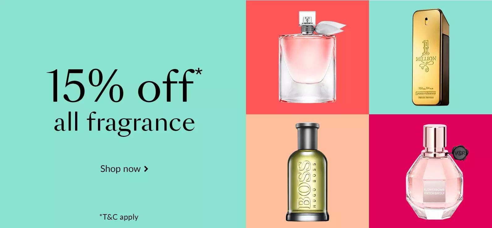 15% Off All Fragrance + Free Standard Delivery @ Debenhams