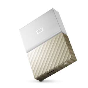 WD My Passport Ultra 4TB Portable Hard Drive - White/Gold for £75.11 delivered @ Amazon