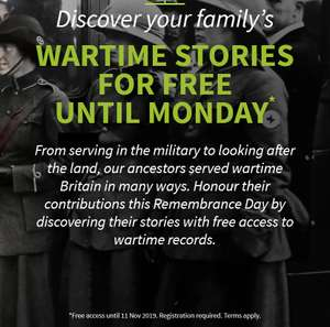 Free weekend access to military records on Ancestry